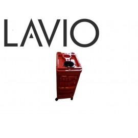 LAVIO Pomocnik wózek fryzjerski czerwony