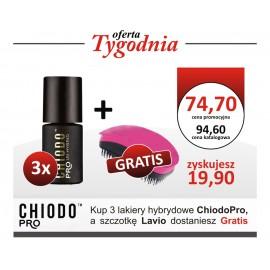 Trzy Lakiery Hybrydowe ChiodPro + Szczotka Lavio GRATIS !!!
