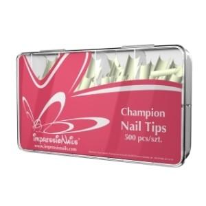 ImpressioNails Tipsy Champion 500szt. - przezroczyste + klej ImpressioNails GRATIS!