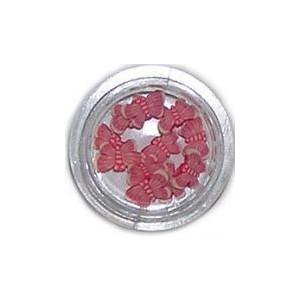 Ozdoby gumowe motylki 10szt - różowe