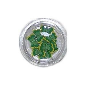 Ozdoby gumowe motylki 10szt - zielone