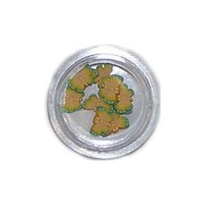 Ozdoby gumowe motylki 10szt - żółte