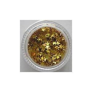 Ozdoby plastikowe gwiazdki - złote